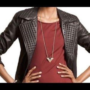 BAR III -faux leather jacket